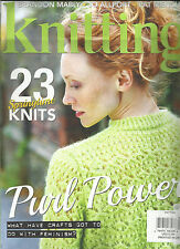 KNITTING MAGAZINE,  23 SPRING TIME KNITS * PURL POWER  APRIL, 2017  ISSUE # 166