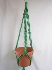 Macrame Plant Hanger 35in SIMPLE 3-ARM 6mm - Lettuce Green