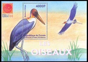 Marabou Stork, Water Birds, Phila Nippon, Guinea Rep. 2001 MNH MS