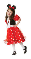 FANCY DRESS COSTUME ~ GIRLS RED SPOTTY MINNIE MOUSE LARGE AGE 7-8