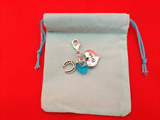 Something Blue - Bride & Lucky Horseshoe Clip on Charm in Blue Gift Bag/FREE P&P