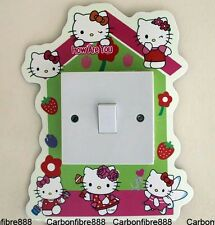 Light Switch Wall Stickers Hello Kitty Home Glow in The Dark