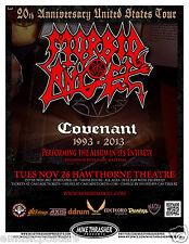 MORBID ANGEL 2013 PORTLAND COVENANT CONCERT TOUR POSTER - Death Metal Music