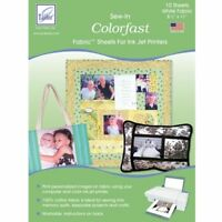 June Tailor Colorfast White Printer Fabric Sheets 10 pk