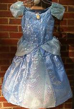New! Disney World Princess Cinderella Fancy Dress Costume Kids S 6/6X