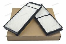 Set of 2 White Fiber Cabin Air Filter for Mazda 3 2004-2009 Mazda 5 2006-2010