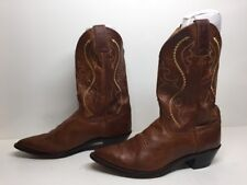 VTG WOMENS JUSTIN COWBOY LEATHER BROWN BOOTS SIZE 9 B