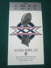 Willie Gault Chicago Bears signed autographed Super Bowl XX 1986 Ticket COA
