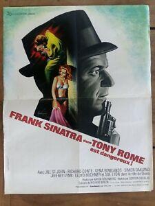 Poster Tony Rome Est Harmful Gordon Douglas Frank Sinatra 16 1/2x21 5/16in