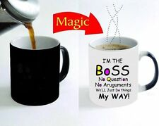 """I'm the Boss"" Colour Changing Heat Funny Coffee Tea Magic Mug Father's Day Gift"
