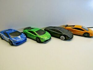 Hotwheels by Mattel - Quartet of Lamborghini Gallardos Black Blue Green & yellow