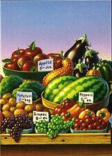 FRUITS, FARMERS MARKETS NOTE CARD # 2 OF 4, BEAUTIFUL ART