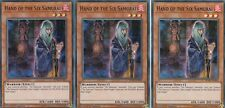 YUGIOH CARD 3 X HAND OF THE SIX SAMURA  SPWA-EN042 - SPIRIT WARRIORS SUPER