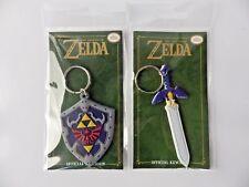 lot Keychain porte clés ZELDA sword & shield épée & bouclier LINK 9cm NINTENDO