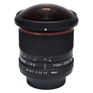 Vivitar 8mm f/3.5 Fisheye Lens For Nikon DSLR Digital SLR Cameras Fish-Eye New!