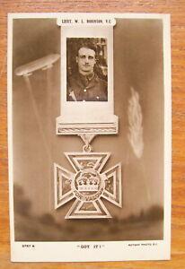 "William Leefe Robinson VC ""Got It"" Real Photo Postcard WW1 Zeppelin RFC 1914-18."