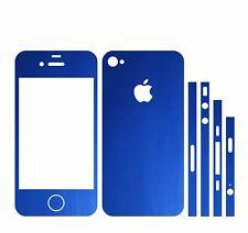22 FAR. IPHONE 4S FOLIE BLAU MATT ( BUMPER COVER HÜLLE SCHALE CASE TASCHE )