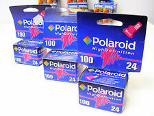 3x Polaroid Film Hight Definition 100 24 35mm Exp 2005 Factory Sealed Boxes