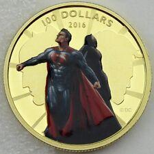 Canada 2016 $100 Batman vs. Superman: Dawn of Justice, 14-karat Gold Color Proof
