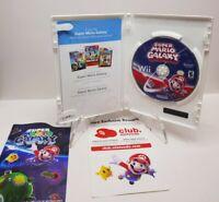 Super Mario Galaxy (Nintendo Wii, 2007) - CIB / Complete with Manual