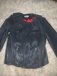 Isabel Marant Etoile Size 40 Black Washed Leather Jacket