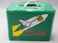 VERY RARE NOS U S SPACE SHUTTLE CHALLENGER VINYL LUNCHBOX UNUSED NAPPE BABCOCK