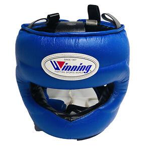 Winning Blue Cleto Grant Everlast Headgear Head Guard FG-5000 FG-2900 /w Box MED