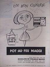 PUBLICITÉ 1957 POT-AU-FEU MAGGI ET BOUILLON DE VOLAILLE - ADVERTISING
