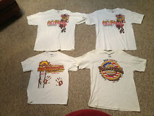 4 vintage MISSISSIPPI RIVER hannibal mo MUD VOLLEYBALL SHIRTS (2  L + 1 XL + 1 M