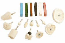 POLISHING KIT - BUFFING & POLISHING WHEELS CLEANS PLASTIC BRASS STAINLESS STEEL