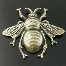 08368 Antiqued Bronze Vintage Alloy Cute 3D Bee Insect Pendant Charms 12pcs