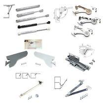 1Lift Door Hinge Hydraulic Gas Strut Lid Stay Support Kitchen Open Cabinet R0C4