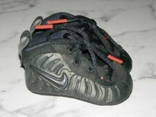 NEW!! Nike Lil' Posite One Infant Boys Sequoia Green/Black/Red Crib Shoes-1 C