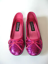 Cute Funtasma Hot Pink Glitter Classic Ballet Bow Flats Slippers Cosplay Anime 6
