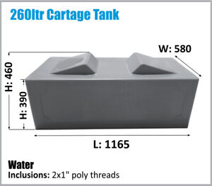 260 LTR RV UTE CARAVAN CARTAGE WATER TANK OZ MADE ASK FOR FREIGHT PRICE.