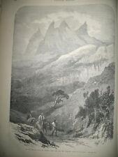 BRESIL RIO DE JANEIRO PIC DE LA TETE DU MOINE PAQUES COMPOSITION GRAVURES 1869