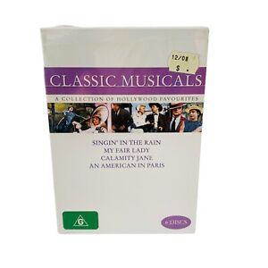 Classic Musicals Box Set DVD 4 Movies 6 Discs Reg 4 New + Sealed Hollywood