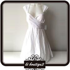 JESSICA SIMPSON Cross Front White Dress Size 8
