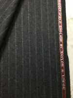 Taylor & Lodge Grey Stripe Wool Lumbs Golden Bale Flannel Suit Fabric. (390g)