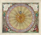 "Beautiful Ancient Map of the Universe and Zodiac CANVAS ART PRINT 16""X12"" #1"