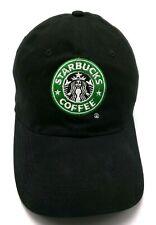 STARBUCKS COFFEE black adjustable cap / hat - 100% cotton
