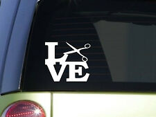 "Scissors Love 6"" STICKER *F135* DECAL hairstylist barber hair dresser salon comb"