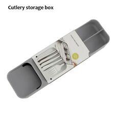 Gray Cutlery Storage Box Kitchen Organiser Cutlery Storage Box Holder