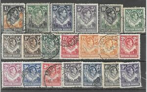 NORTHERN RHODESIA 1938/52 stamps(20) GVI, complete set to 10/-, fine used