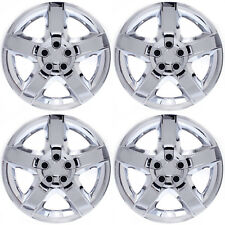 "4pc Set Fits 17"" Inch CHROME 5 Spoke Hub Cap Rim Steel Wheel Skin Lug Full Cover"
