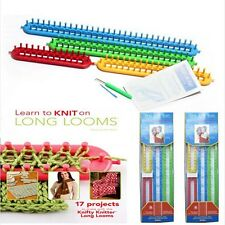 Long Plastic Loom Knifty Knitter Round Looms Set of 4 Sizes Gift for Woman Girl