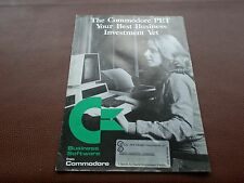 Vintage The Commodore PET your best Business Investment Yet Brochure/Advert