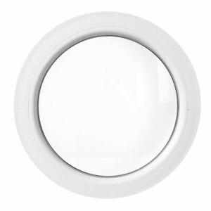 Oeil de boeuf fixe PVC blanc 50 55 60 65 70 80 90 100 110 120 cm fenêtre ronde