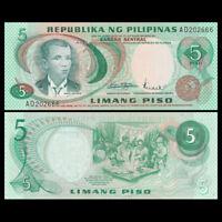Philippines 5 Pesos Banknote, ND(1969), P-148, UNC, Asia Paper Money