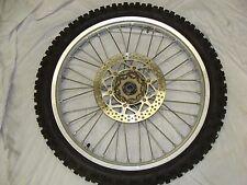 1998 yz 125  98 99 00 01 yz125  front wheel  ( cracks in rim ) nice tire